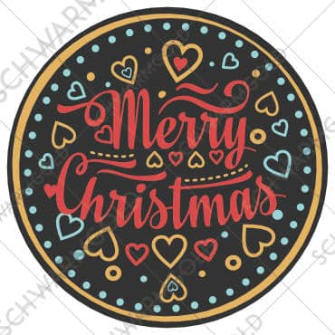 Sticker Christmas Hearts Schwarmgold 30mm 40mm