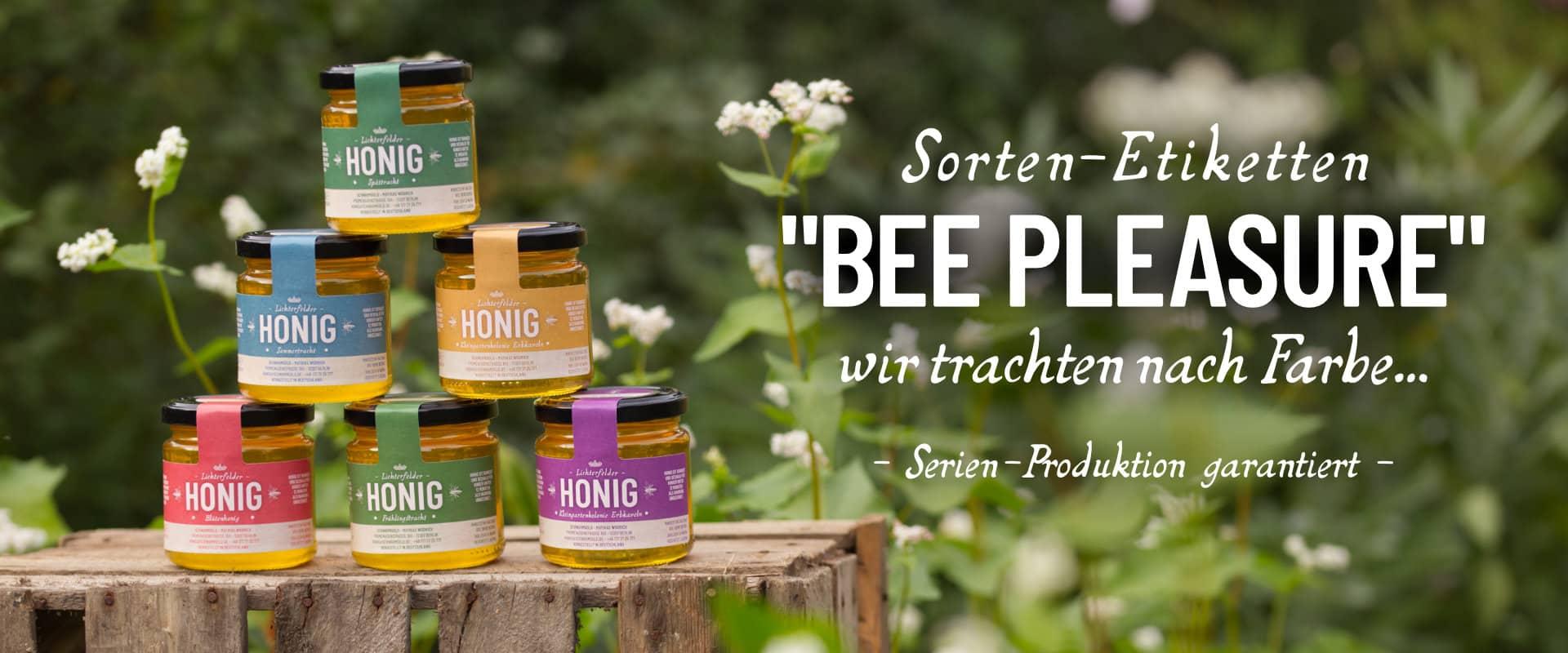 Honigetikett Beepleasure SCHWARMGOLD