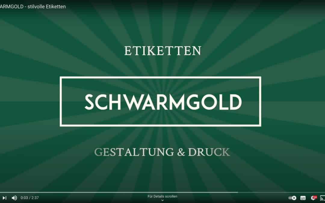 Honigetiketten von SCHWARMGOLD – Video
